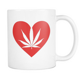 Love the Leaf with All Your Heart - White Mug - Muggalicious
