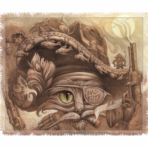 Pirates of the Caribbean Cat - Throw Blanket - Muggalicious
