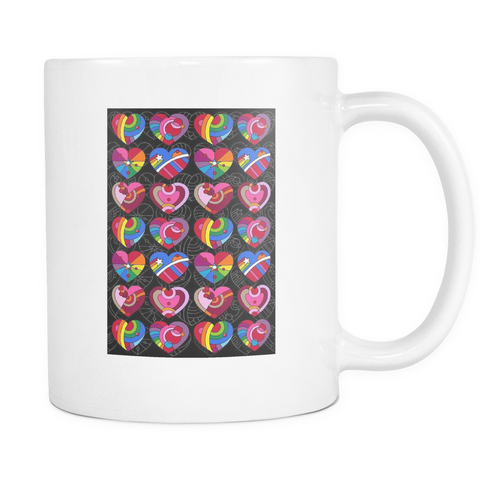Pop Hearts - White Mug