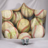 Bucket of Balls - Baseball Hooded Blanket - Muggalicious