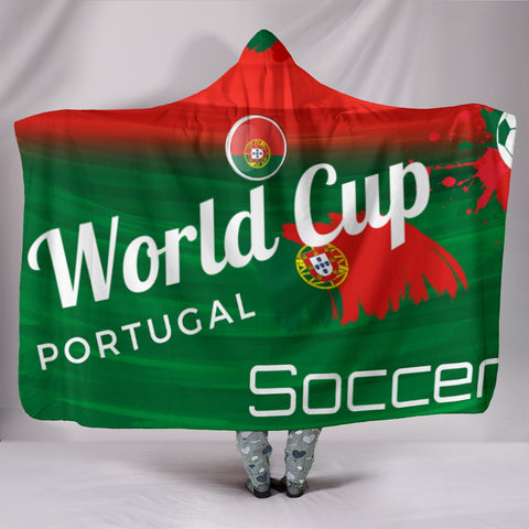Portugal World Cup Soccer Hooded Blanket