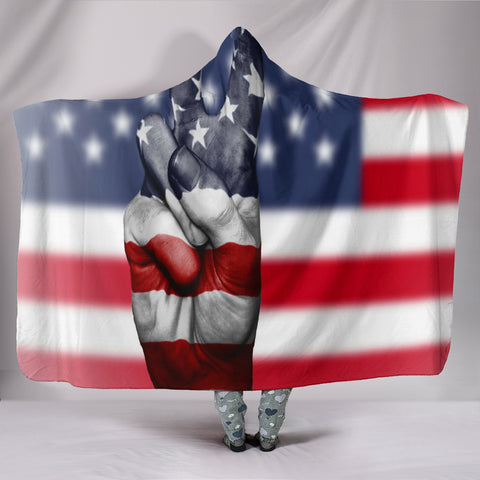 American Peace - Hooded Blanket - Muggalicious