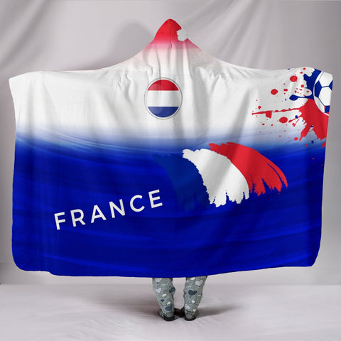 France Soccer Hooded Blanket - Muggalicious