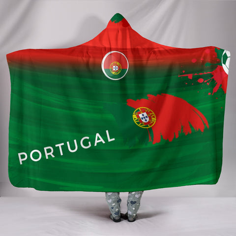 Portugal Soccer Hooded Blanket