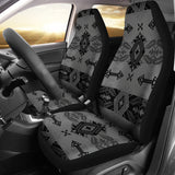 Sovereign Nation Indian Motif Gray Car Seat Cover Set