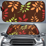 Fall Fern Leaf Pattern Universal Car Sun Shade - Muggalicious
