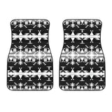 Between the Mountains Black and White Set of 2 Car Mats