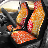 Chrysanthemum - Tangerine Universal Fit Car Seat Cover Set