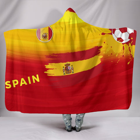 Spain Soccer Hooded Blanket