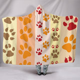 Paws and Stripes Hooded Blanket - Muggalicious