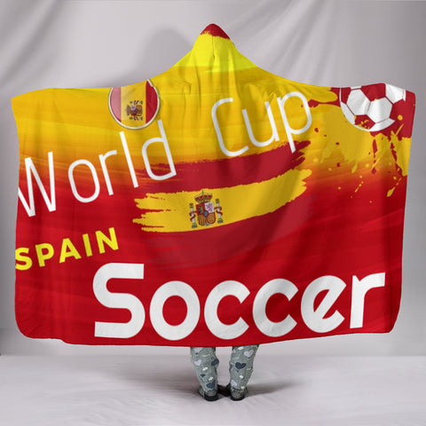 Spain World Cup Soccer Hooded Blanket