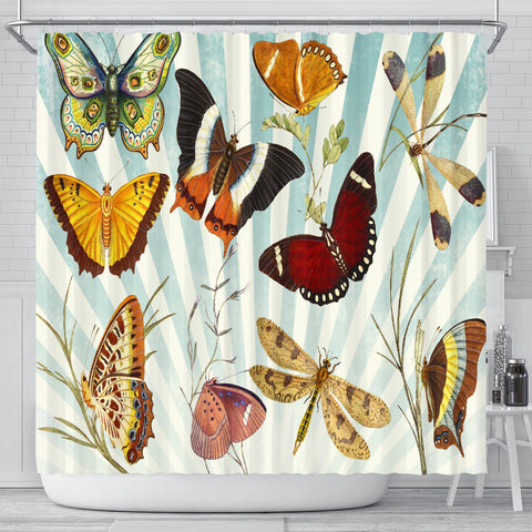Butterfly Collage Classic Shower Curtain - Muggalicious