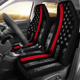 Thin Red Line Firefighters Support Car Seat Cover Set