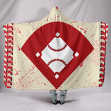 Baseball Stitches Hooded Blanket - Muggalicious