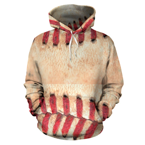 Baseball Stitches All-Over Design Hoodie - Muggalicious