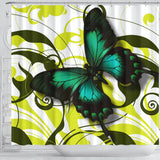 Butterfly in the Breeze Custom Shower Curtain - Muggalicious