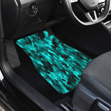 Coral Teal Camo Front Car Mats (Set Of 2)