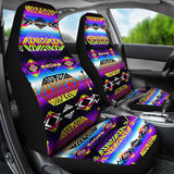 Native American Indian Inspired Trade Route West Set of 2 Universal Fit Car Seat Covers