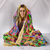 Surrounded by World Peace Symbols Hooded Blanket