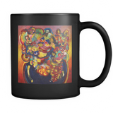 Flowers Interpreted - Black Mug - Muggalicious