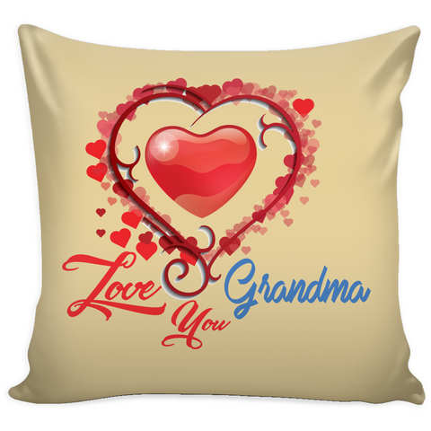 Love You Grandma - Pillow Cover - Muggalicious