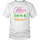 Peace, Love & Happiness           Unisex T-shirt - Muggalicious
