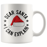 Dear Santa  I Can Explain - White Mug - Muggalicious