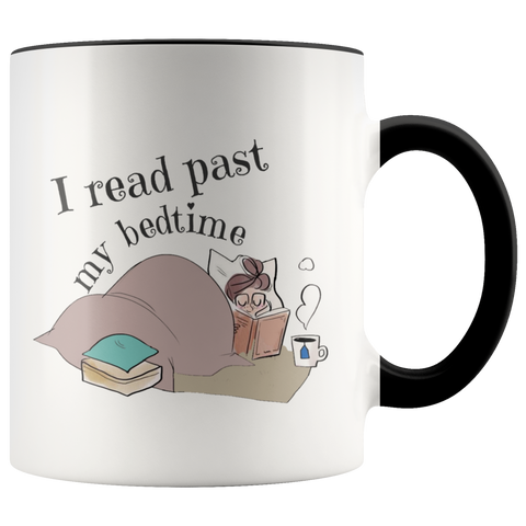 I Read Past My Bedtime Accent Mugs - Muggalicious