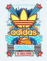 Adidas Originals T Shirt World Famous Tee Mens UK Sizes M to L  NEW   Z60851