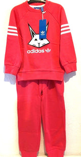 Adidas Originals Baby Girls Pink Tracksuit Animal Gift Set  0 - 24 Months NEW