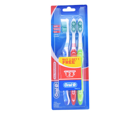 ALL ROUNDER CLEAN cepillo dental #suave 3 pz