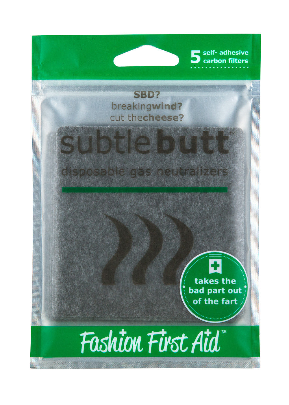 Subtle Butt- disposable or reusable gas neutralizing pads