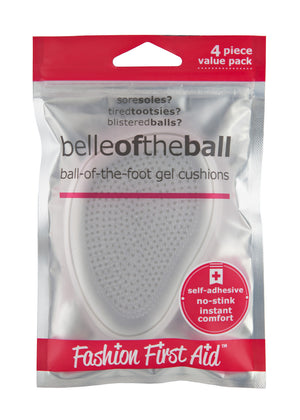 Belle of the Ball gel foot cushions, comfortable high heel cushions