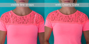 Clearly Gone- Clear bra straps