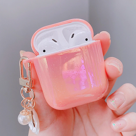 Pink Shell Airpods Case
