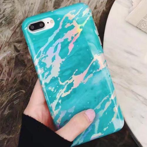 Holo Mint Marble iPhone Case
