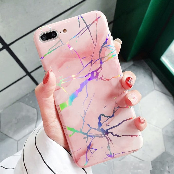 Holo Pink Marble Case