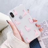 Dino Pattern iPhone Case (Pink)