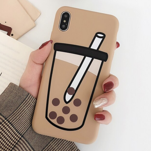 Boba Tea iPhone Case (Black Tea)