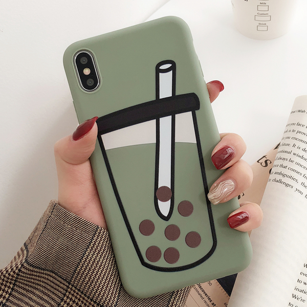 Boba Tea iPhone Case (Matcha)