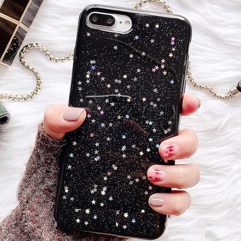 Holo Star iPhone Case (Black)