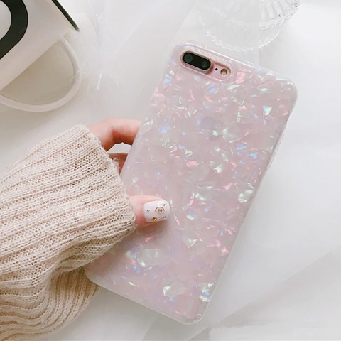 Crystal Shell iPhone Case (Pink)