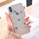 Dried Flower iPhone Case (Blue)