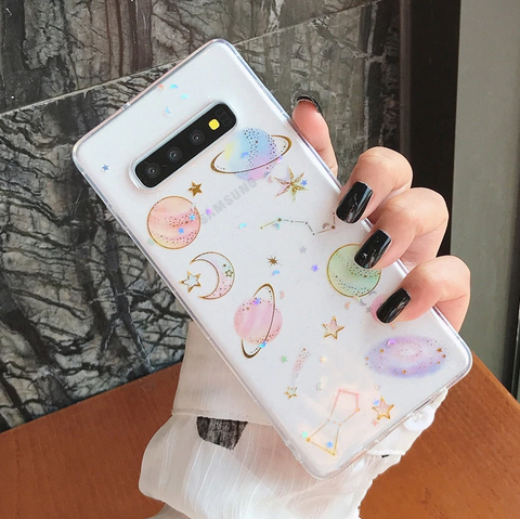 Glitter Planet Samsung Case (Clear)