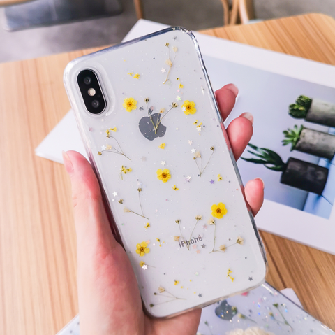 Dried Flower iPhone Case (Yellow)