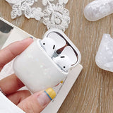 Crystal Shell Airpods Case (White)