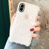Clear Crystal Diamond iPhone Case (White)