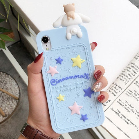 Blue Cinnamoroll iPhone Case