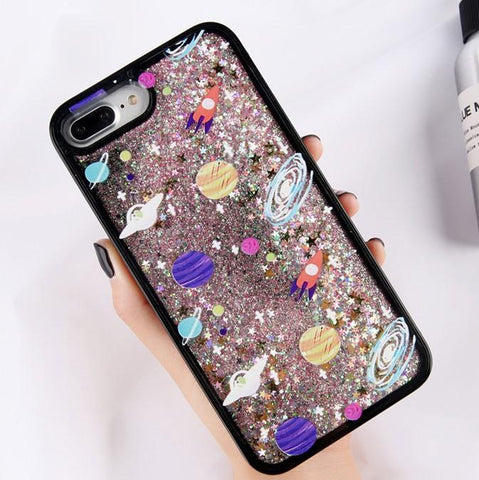 Glitter Black Space Case