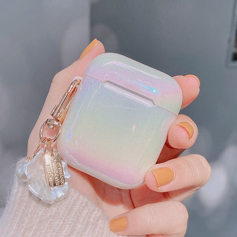 Rainbow Shell Airpods Case